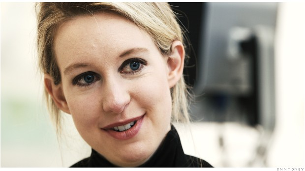 Elizabeth Holmes owns 50% of her company, Theranos.