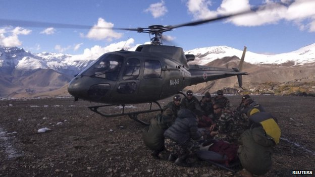 Rescue helicopters are again scouring the mountainsides