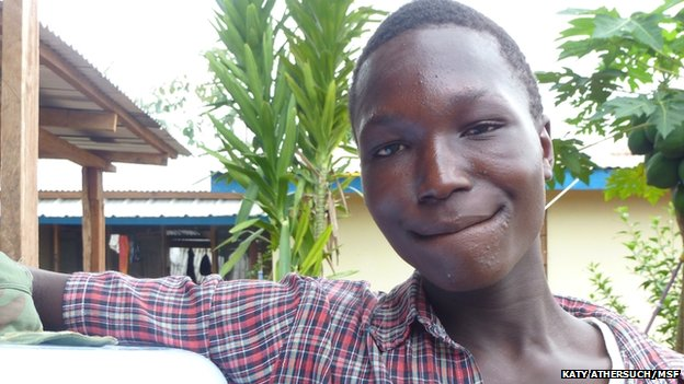 James Kollie survived Ebola in Liberia and wants to study biology and become a doctor