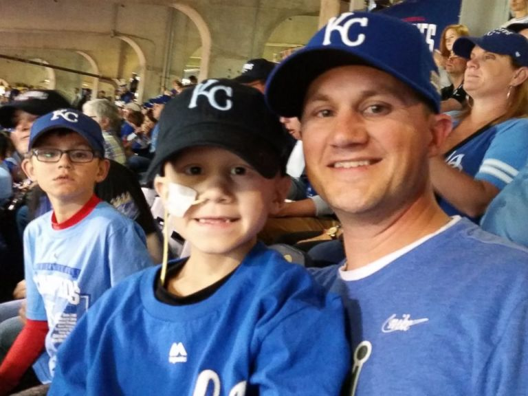 PHOTO: Scott Wilson with his sons at the World Series game on Oct. 21, 2014. Courtesy Scott Wilson