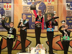 Drew Lovejoy wins first place at the 2013 World Irish Dancing Championships in Boston.