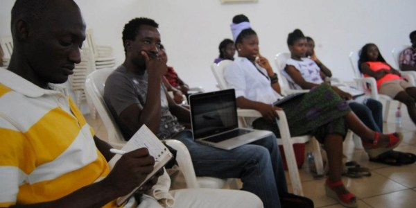 Pictured here are students at one of the CCAL's education workshops.