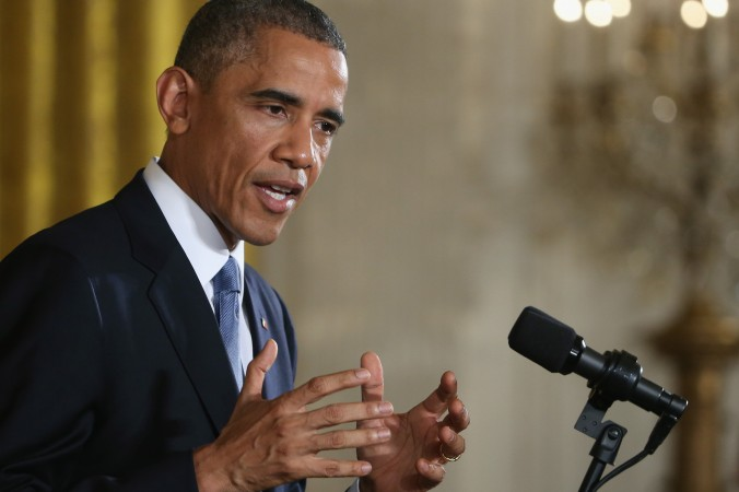 """U.S. President Barack Obama speaks to the media during a news conference in the East Room a day after Democrats lost the US Senate Majority, November 5, 2014 in Washington, DC. He promised to take """"executive action"""" on immigration unless Republicans would pass immigration reform. (Mark Wilson/Getty Images)"""
