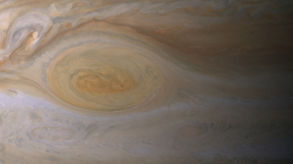The Great Red Spot's clouds are much higher than those elsewhere on Jupiter. Credit: NASA/JPL-Caltech/ Space Science Institute