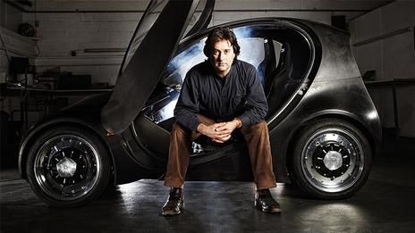 Hugo Spowers and the Riversimple car. (Riversimple)