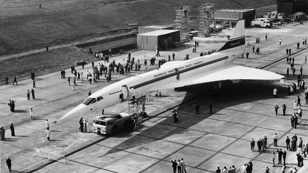 The airliner first flew in 1969, after an ambitious joint engineering project between Britian and France. (Evening Standard/Getty Images)